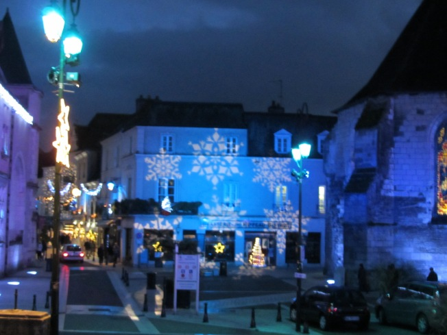 Christmas lights at Amboise
