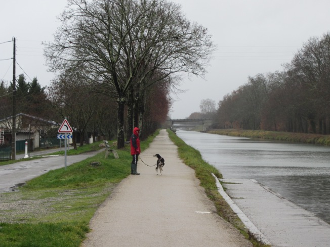 Walking along the Garonne canal at Grisolles