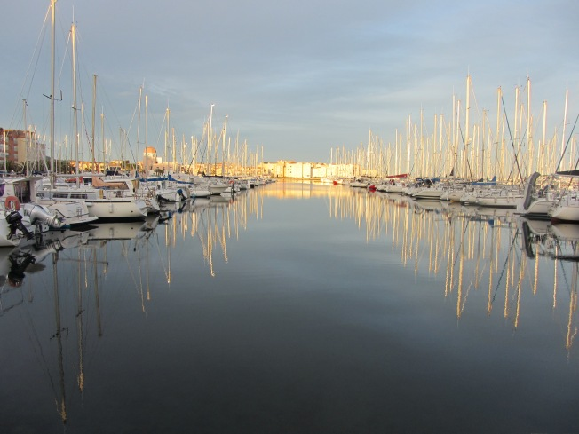 Enjoying a walk around the Marina at Gruissan