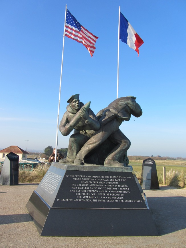 Monument to the American forces who landed at Utah Beach