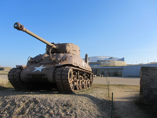 WWII tank by museum