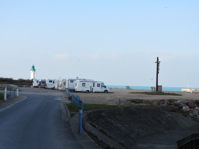 St Valeir-en-Caux motorhome aire and lighthouse