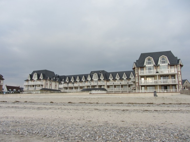 Sea-side houses on Le Crotoy beach