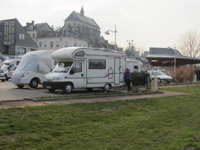 Motorhome aire at Pont-de-L'Arche