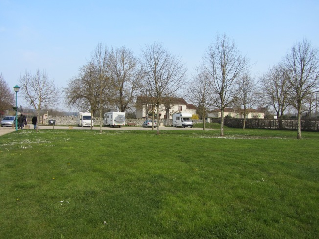 Motorhome aire at Verteuil-sur-Charente