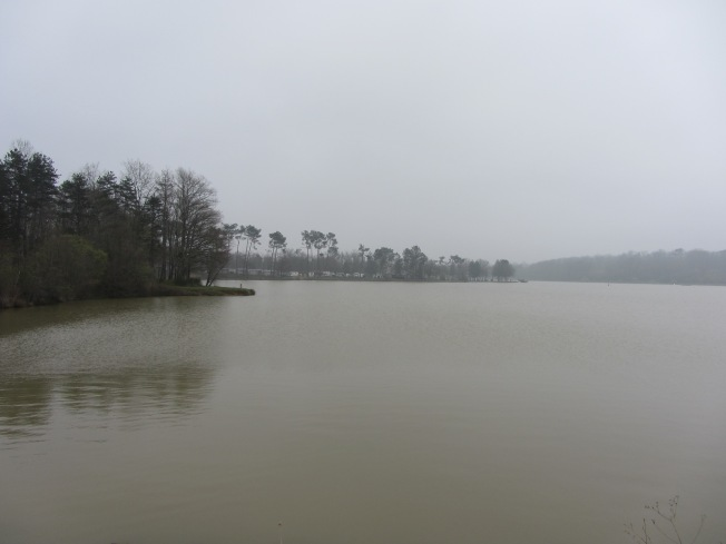The weather turned misty at Lac de l'Uby