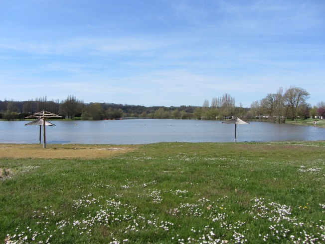 The beach at Lac des Varennes
