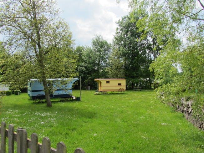 Some quaint caravans by horse riding school at Conty