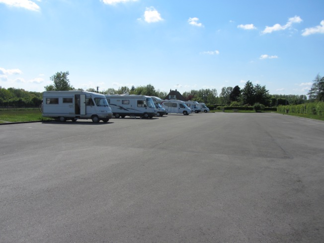 Motorhome aire at Forges-les-Eaux