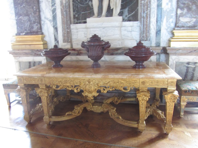 A sample of the elaborate furniture of the period