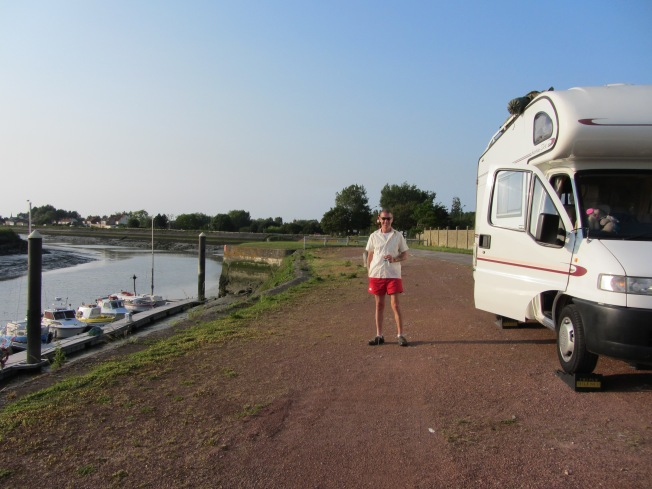 A well placed motorhome aire at Gravelines