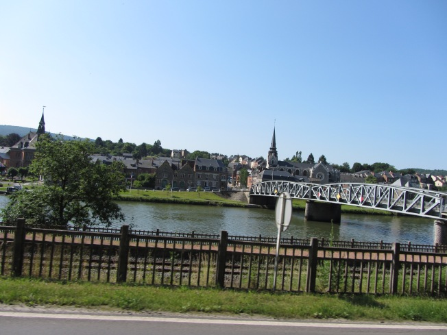 I managed to get a picture of the river Meuse whilst leaving Givet
