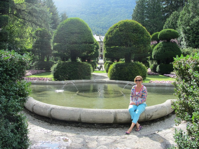The gardens at the Abbey at Bourget du Lac
