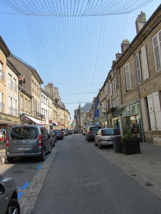 Quaint Langres with summer Fete decorations