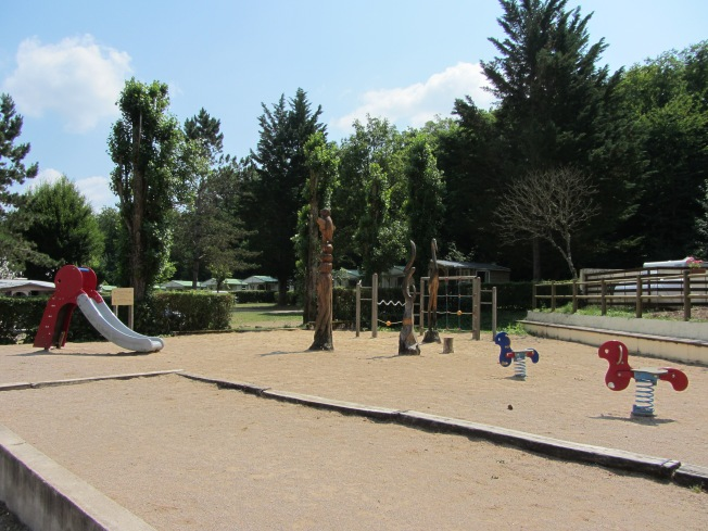 Attractive children's play area at camping Lac de Panthier