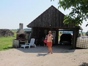Buying delicious wines from Visitors' hut at Domaine Dury