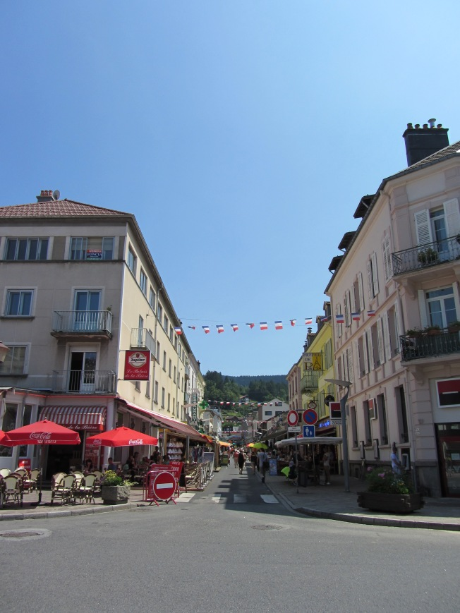 High street at Lac de Gerardmer