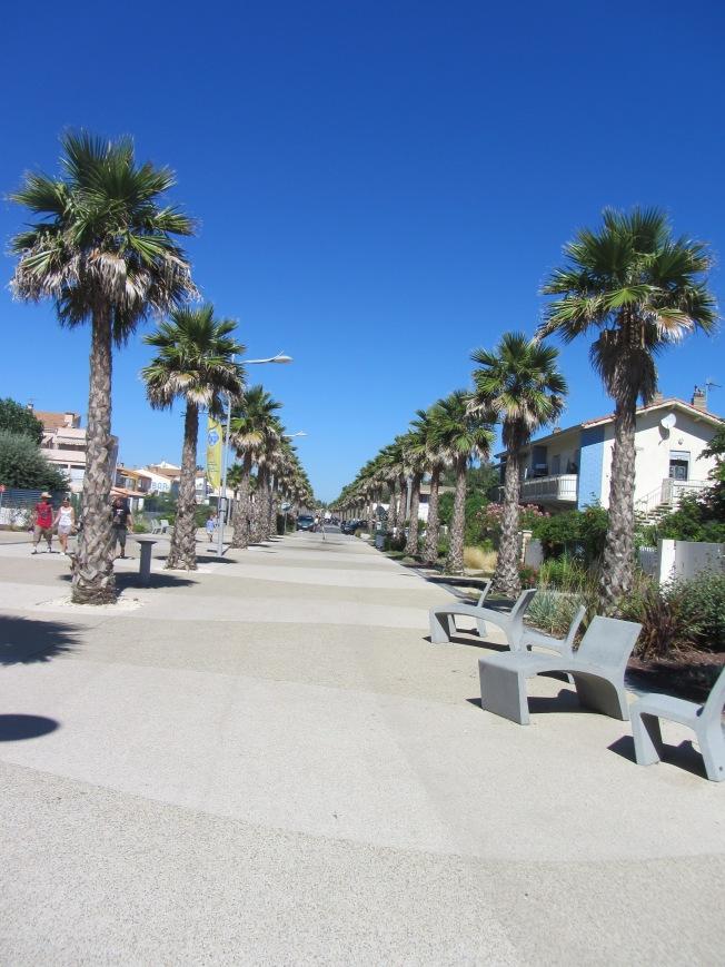 Beautiful Marseillan promenade
