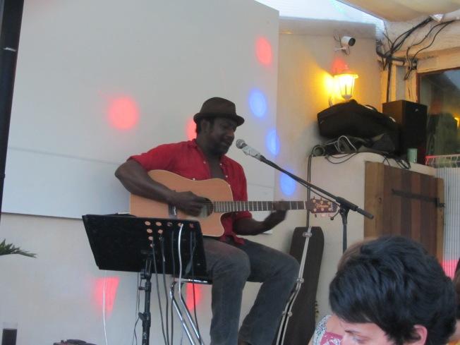 The evening entertainment: Fantastic Blues singer