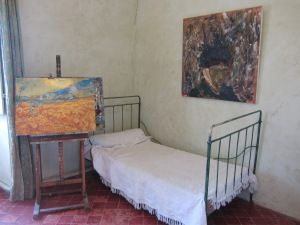 Van Gogh's bedroom whilst convalescing at Monastère de St Paul de Mausole