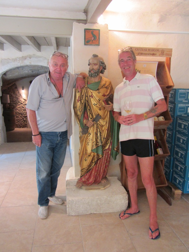 Our friendly host, Pierre, with Peter and St Peter!