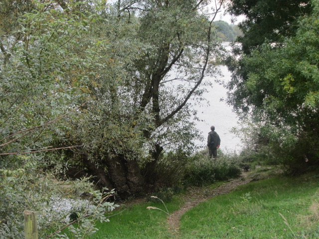 Exploring the walk path at Oudon along the River Loire