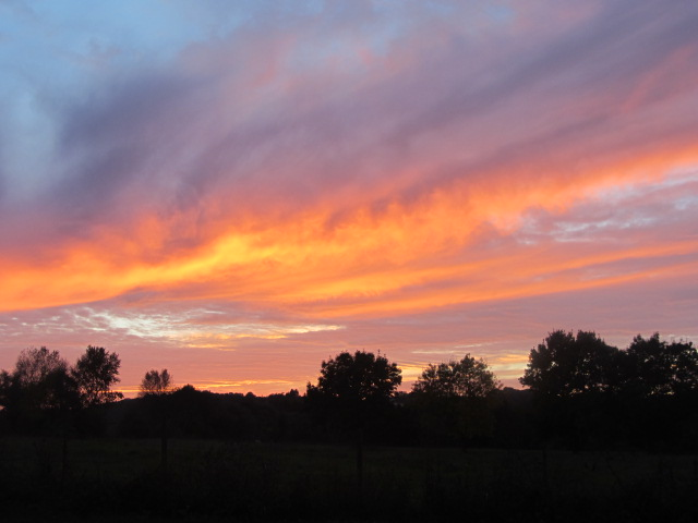 Magnifcent sunset at Oudon