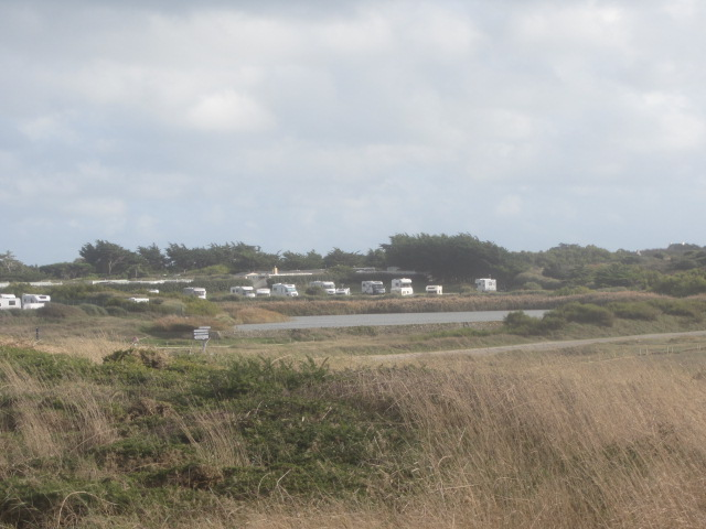 The motorhome aire at Quiberon