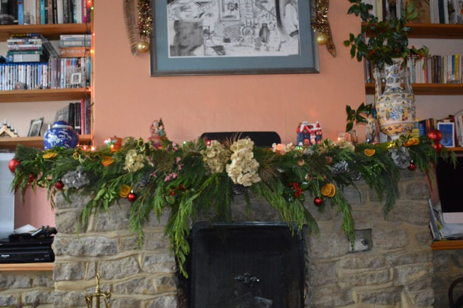 Home-made Christmas garland to wish you all a Very Happy Christmas
