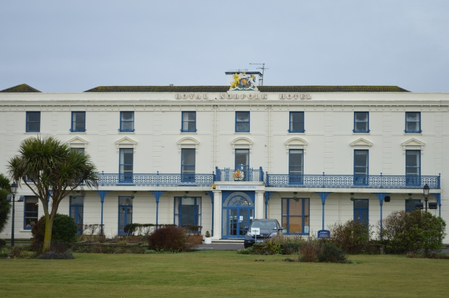 The Royal Norfolk Hotel, opposite the beach