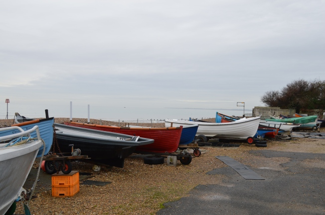 Fishing boats waiting for better weather