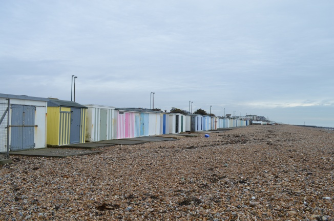 And the quintessential British beach huts