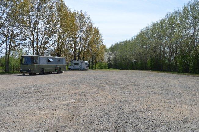 Wild camping at St Nicolas-de-la-Grave