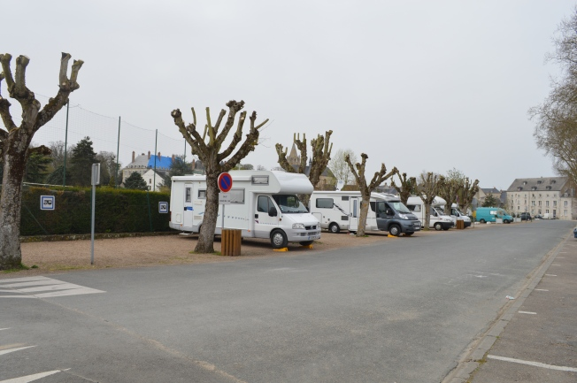 Attractive Motorhome aire at Meung-sur-Loire