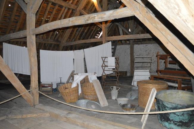 The attic/laundry room