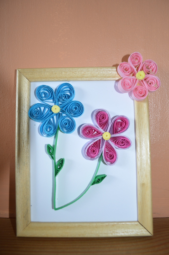 The Quilling picture I made at Barbotan's Tourist Information Office