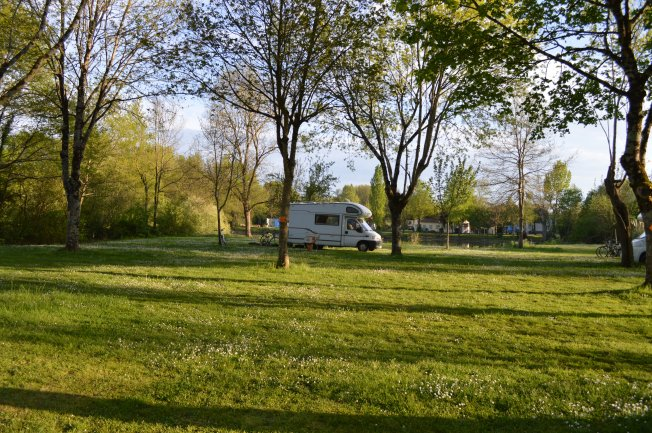 Our lovely pitch at Camping Marco de Bignac