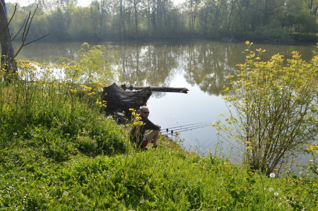Top fishing spot just a few metres away from our pitch