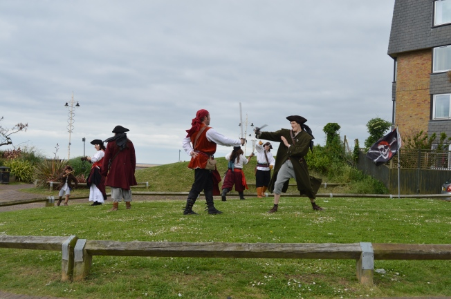 Pirates fighting on Bognor Regis seafront