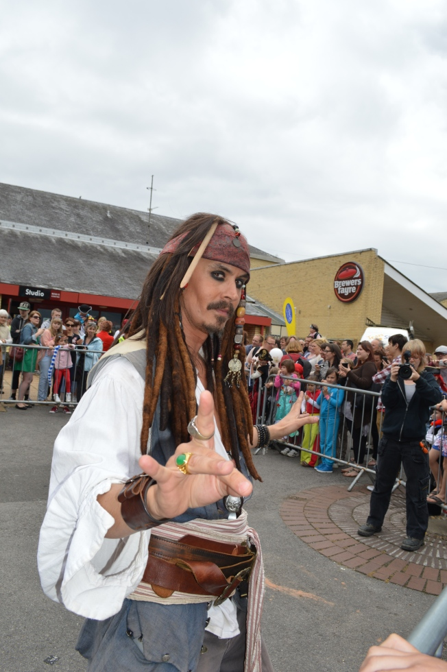 Jack Sparrow being a good sport posing for me