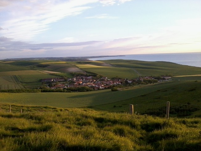 The magnificent view from Mont Hubert over Cap Blanc Nez and Cap Gris Nez and Wissant