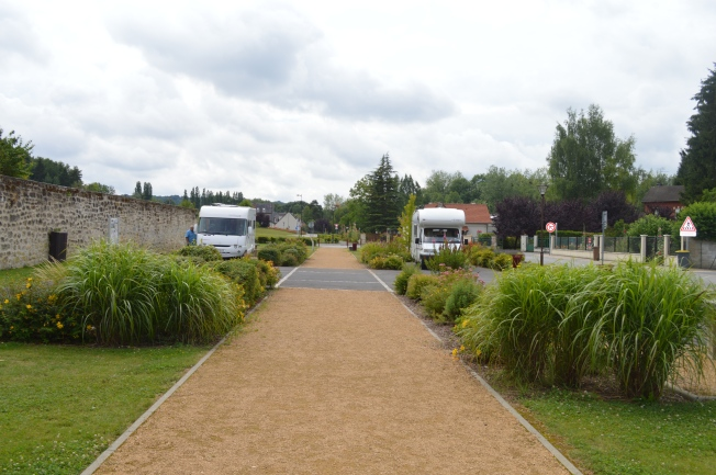 The charming motorhome aire at Bruyères et Montberault