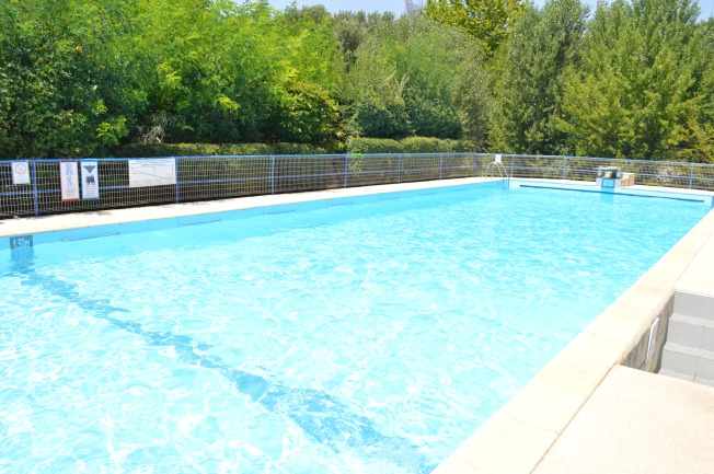 The large and cooling swimming pool