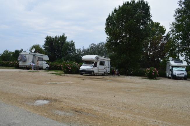 Our spot at the attractive aire at Bellegarde