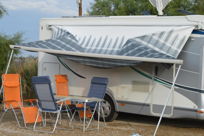 After the storm in La Petite Camargue.  Glad it's not my awning!