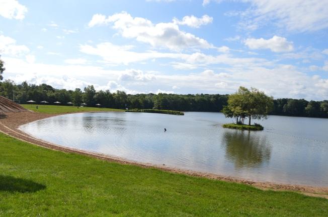 The beautiful lake outside campsite