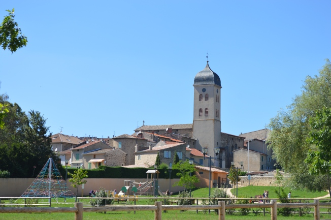 Medieval Boulieu-les-Annonay seen from motorhome aire