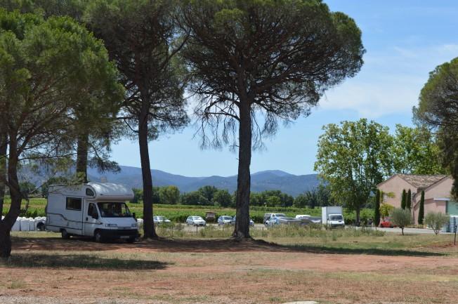 Our shady spot at Chateau des Demoiselles