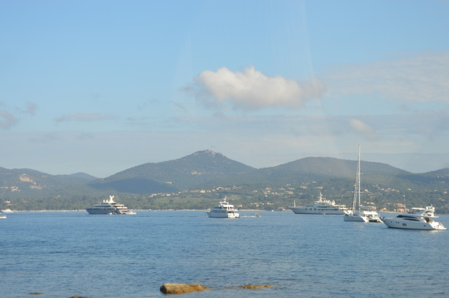 Amazing yachts at Plage de Pampelonne