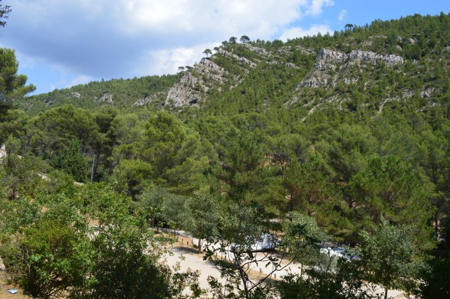 Lovely scenery surrounding the aire at Cuges-les-Pins